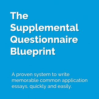 A proven system to write memorable common application essays.