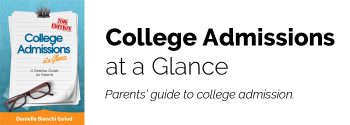 A desktop guide to college admission for parents.