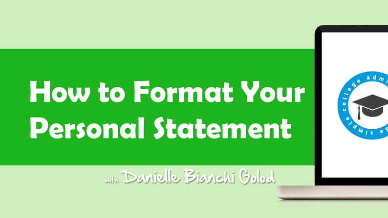 Danielle Bianchi Golod shows students how to format their personal statement essays.