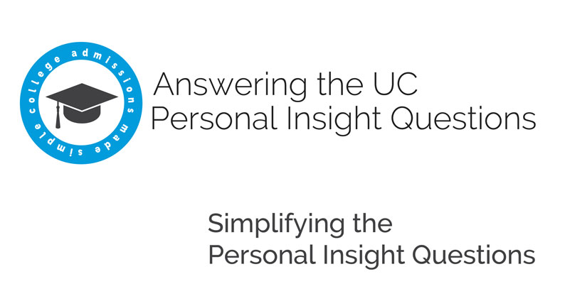 personal insight essay Here's another uc essay example for you this is a pretty important uc essay example, so make sure you read the strengths analysis at the end.